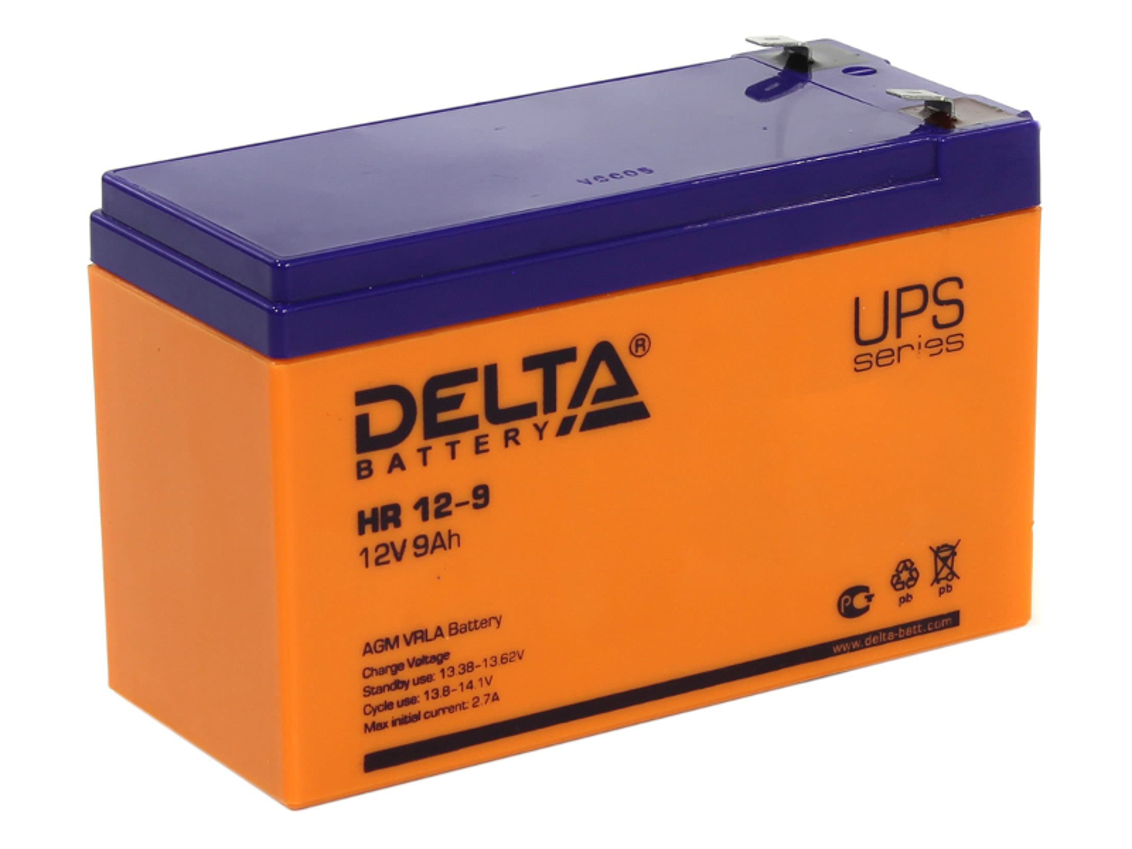 Аккумулятор для ИБП Delta HR 12-9 12V 9Ah