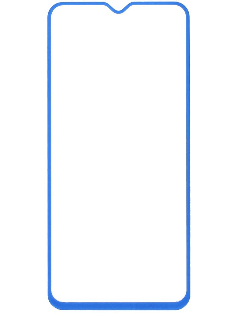Защитное стекло LuxCase для Samsung Galaxy A20S 2.5D Full Glue Blue Frame 78197