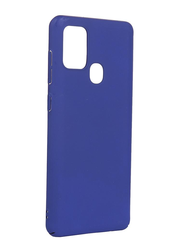 Чехол LuxCase для Samsung Galaxy A21s PC Blue 63012
