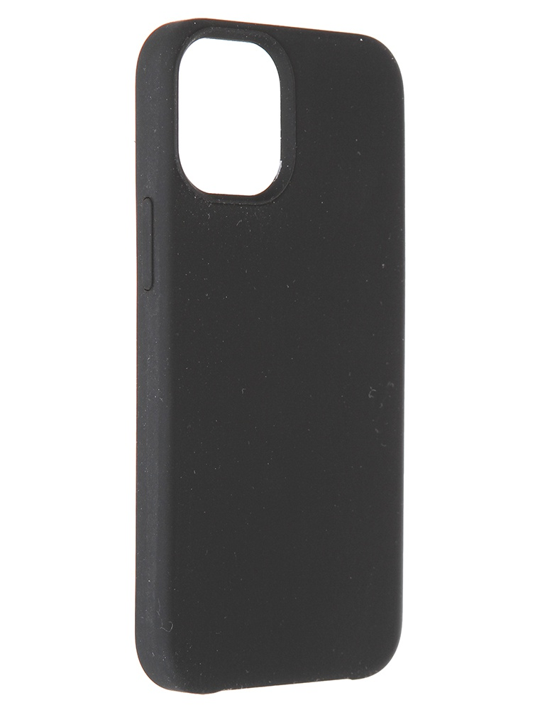 Чехол LuxCase для Apple iPhone 12 Soft Touch Premium Black 69032