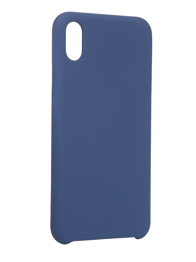 Чехол LuxCase для Apple iPhone XS Max Soft Touch Premium Blue 69017