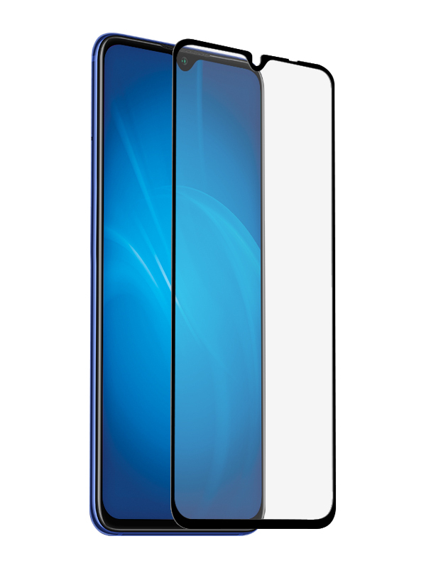 Защитное стекло LuxCase для Realme C3 2.5D Full Glue Black Frame 78386