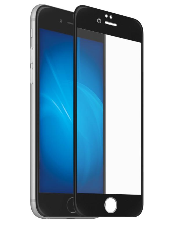 Защитное стекло LuxCase для APPLE iPhone SE 2020 3D Full Glue Black Frame 78377