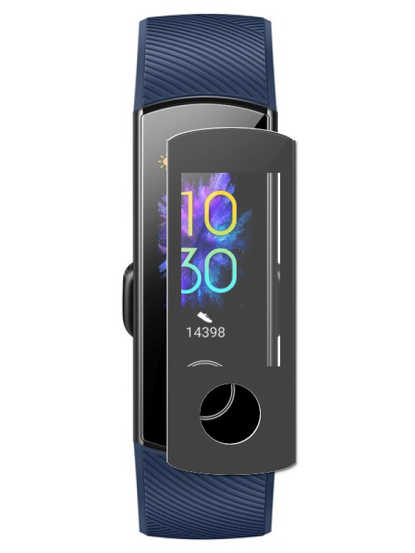 Aксессуар Защитное стекло LuxCase для Huawei Honor Band 5 3D PMMA Black Frame 89376