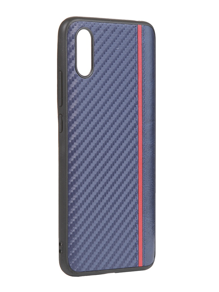 Чехол G-Case для Xiaomi Redmi 9A Carbon Dark Blue GG-1278