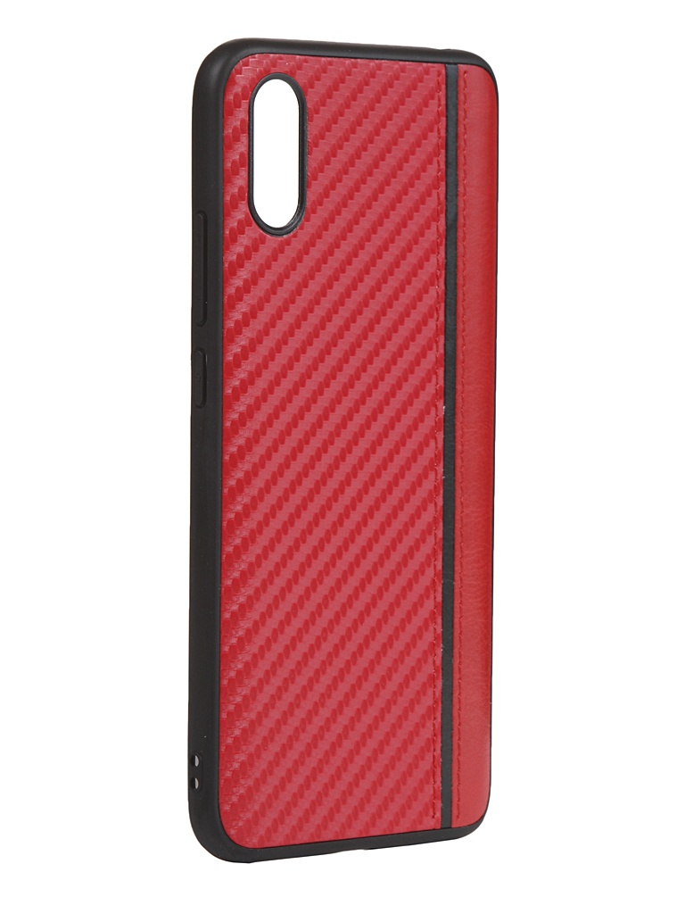 Чехол G-Case для Xiaomi Redmi 9A Carbon Red GG-1277