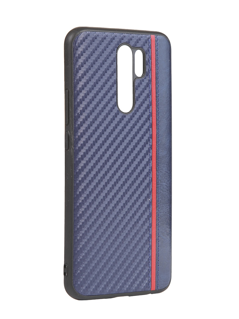 Чехол G-Case для Xiaomi Redmi 9 Carbon Dark Blue GG-1275