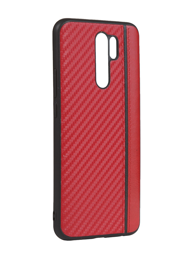 Чехол G-Case для Xiaomi Redmi 9 Carbon Red GG-1270