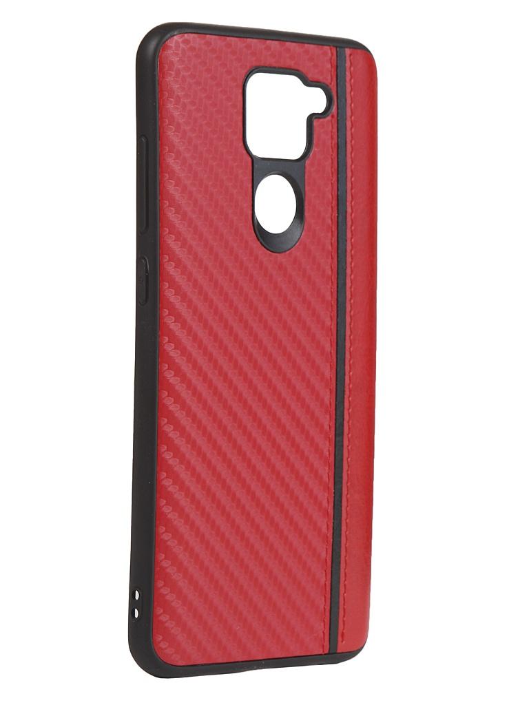 Чехол G-Case для Xiaomi Redmi Note 9 Carbon Red GG-1261
