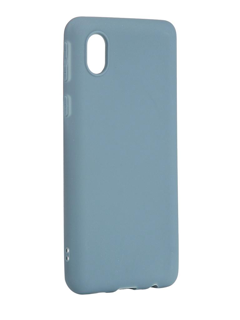 Чехол Zibelino для Samsung Galaxy A01 Core A013/M01 M013 Soft Matte Azure ZSM-SAM-A013-AZU