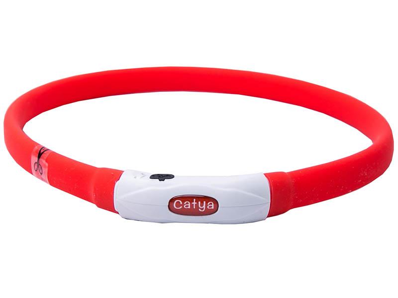 Ошейник ZDK PetU015m LED 55cm Red