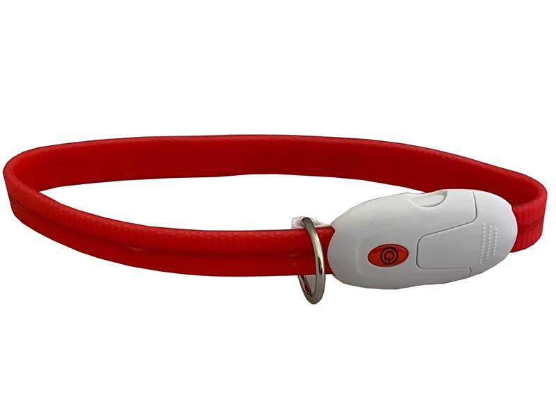 Ошейник ZDK PetU016s LED 40cm с карабином Red