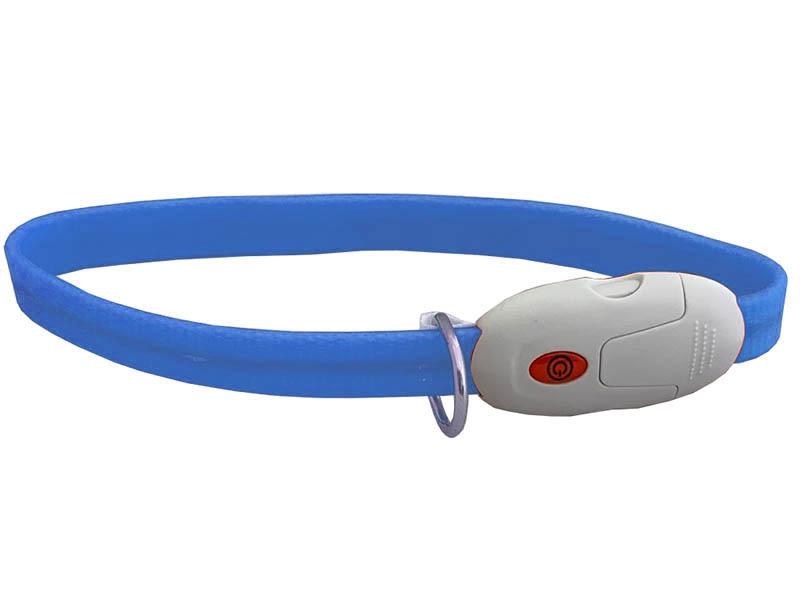 Ошейник ZDK PetU016m LED 55cm с карабином Blue