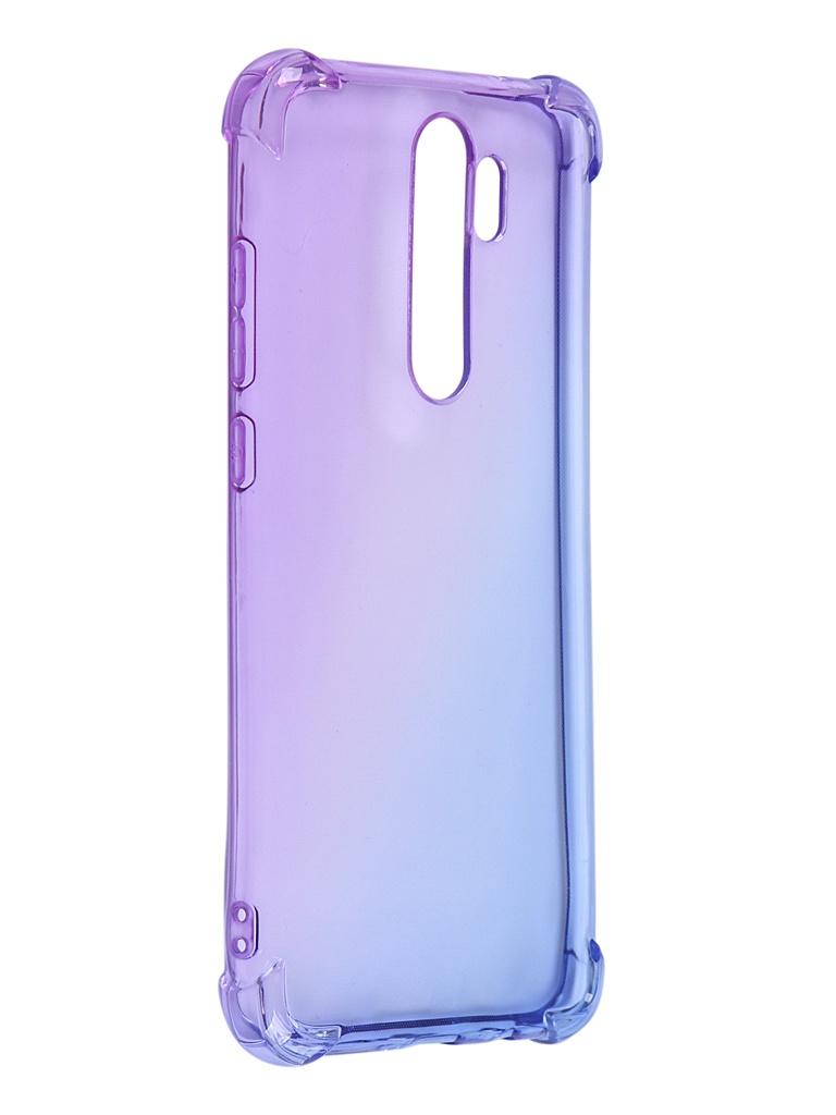 Чехол Brosco для Xiaomi Redmi Note 8 Pro TPU Purple-Blue XM-RN8P-HARD-TPU-VIOLET-BLUE