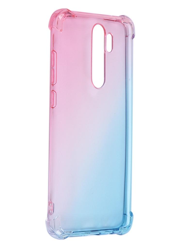 Чехол Brosco для Xiaomi Redmi Note 8 Pro TPU Pink-Light Blue XM-RN8P-HARD-TPU-PINK-BLUE