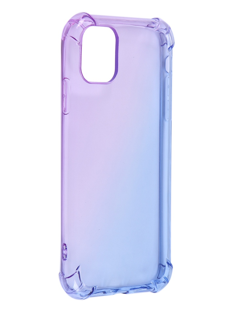 Чехол Brosco для APPLE iPhone 11 TPU Purple-Blue IP11-HARD-TPU-VIOLET-BLUE