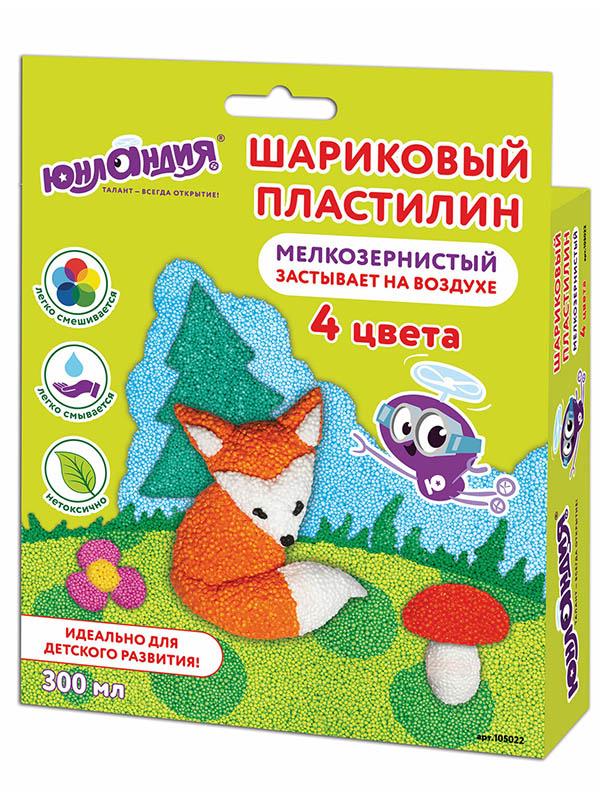 Набор для лепки Юнландия Пластилин Юнландик по лесу идет 4 цвета 105022