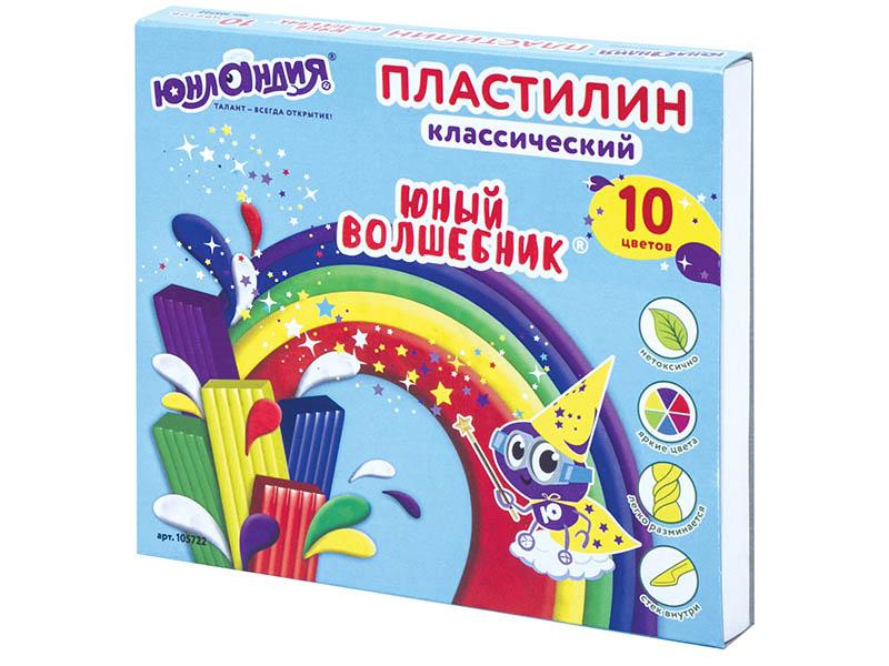 Набор для лепки Юнландия Пластилин Юный волшебник 10 цветов 200g 105722