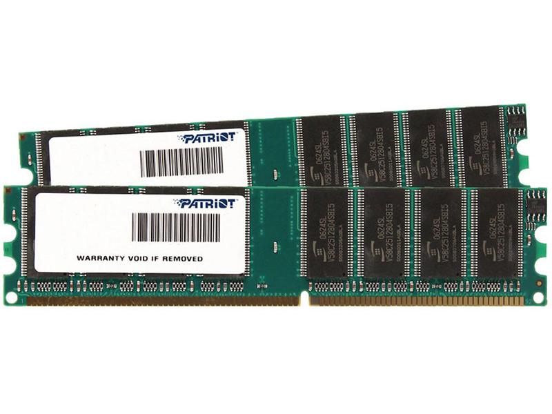 Модуль памяти Patriot Memory Signature DDR2 DIMM 800MHz PC6400 CL6 - 4Gb Kit (2x2Gb) PSD24G800K