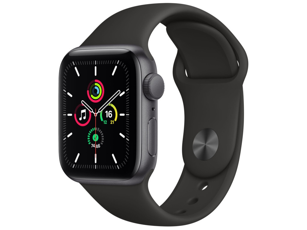 Умные часы APPLE Watch SE 40mm Space Grey Aluminium Case with Black Sport Band MYDP2RU/A