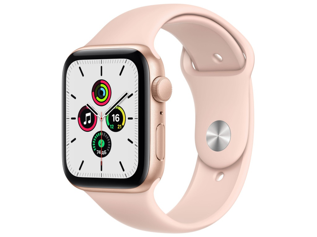 Умные часы APPLE Watch SE 44mm Gold Aluminium Case with Pink Sand Sport Band MYDR2RU/A