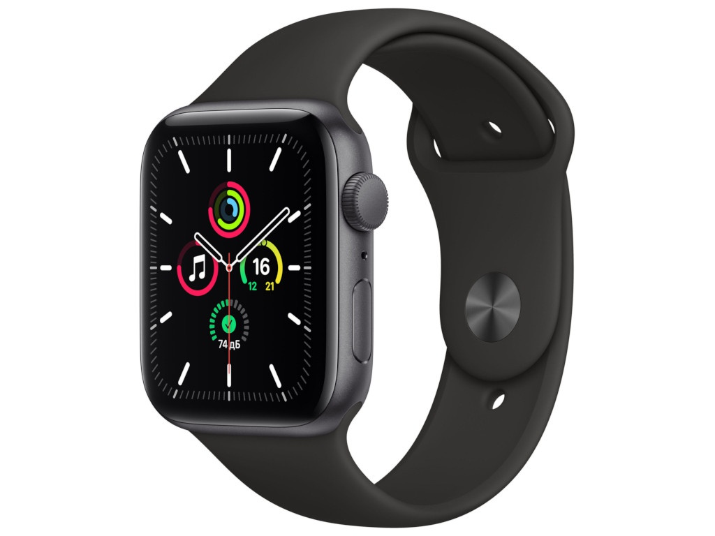 Умные часы APPLE Watch SE 44mm Space Grey Aluminium Case with Black Sport Band MYDT2RU/A