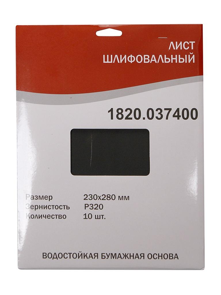 Шлифлист Elitech 230x280mm P320 10шт 1820.037400