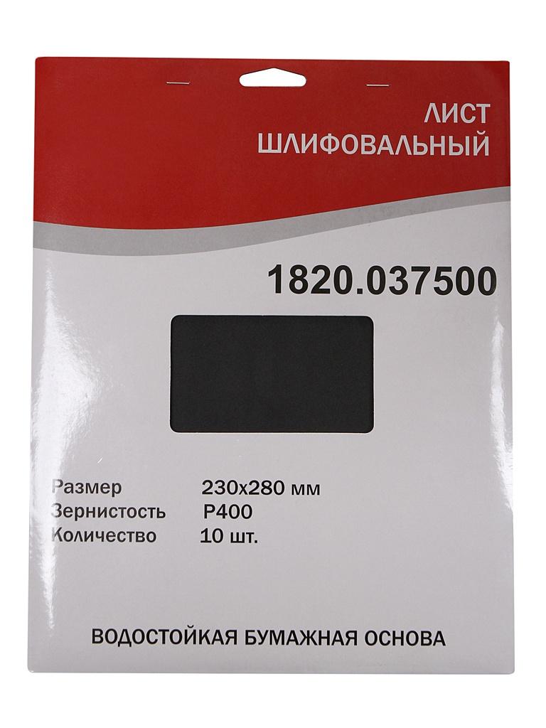 Шлифлист Elitech 230x280mm P400 10шт 1820.037500