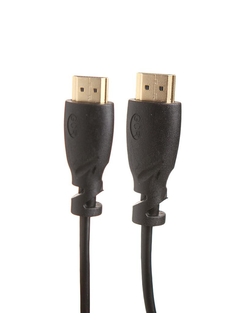 Аксессуар Greenconnect Slim HDMI M/M v2.0 20cm Black GCR-51171
