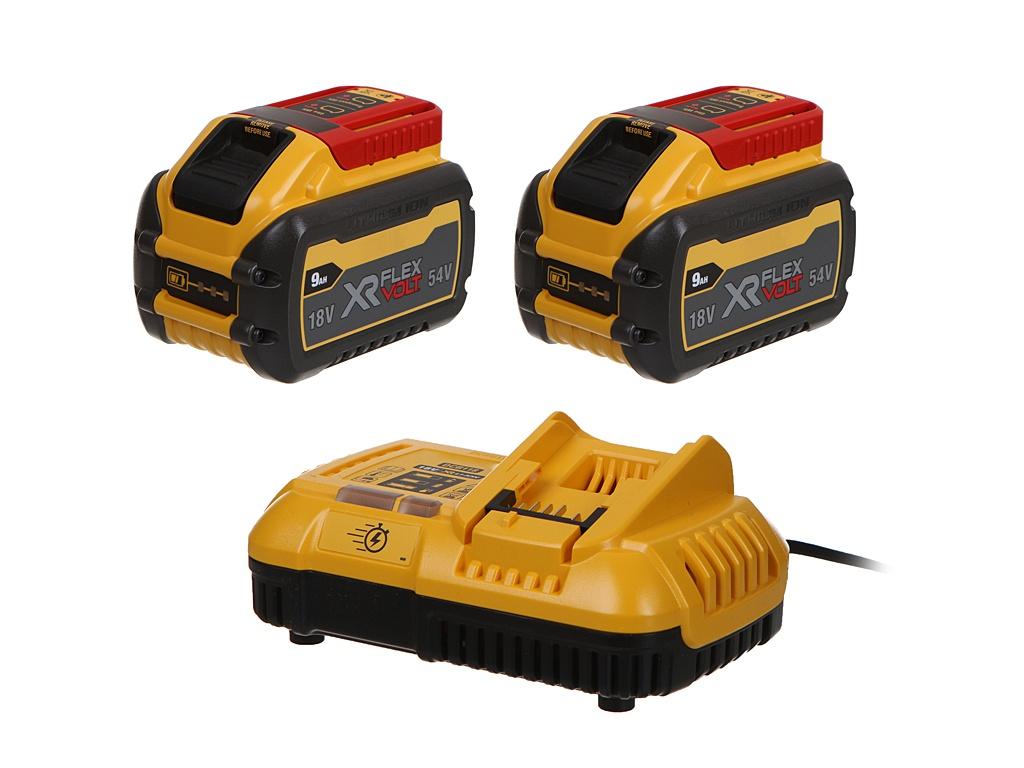 Зарядное устройство DeWalt DCB118 +2 батареи DCB547 9Ah DCB118X2-QW
