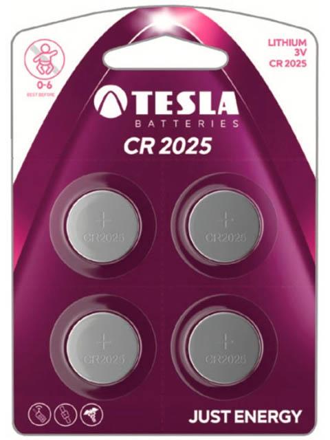 Батарейка CR2025 - Tesla (4 штук)