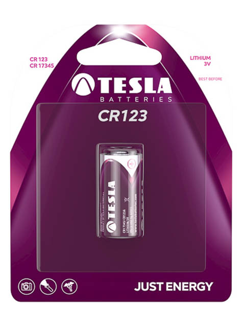 Батарейка CR123 - Tesla (1 штука)