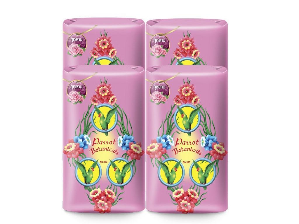 Средство для ухода за телом Parrot Botanicals Ботаническое мыло с ароматом розы 4шт по 105g 4850