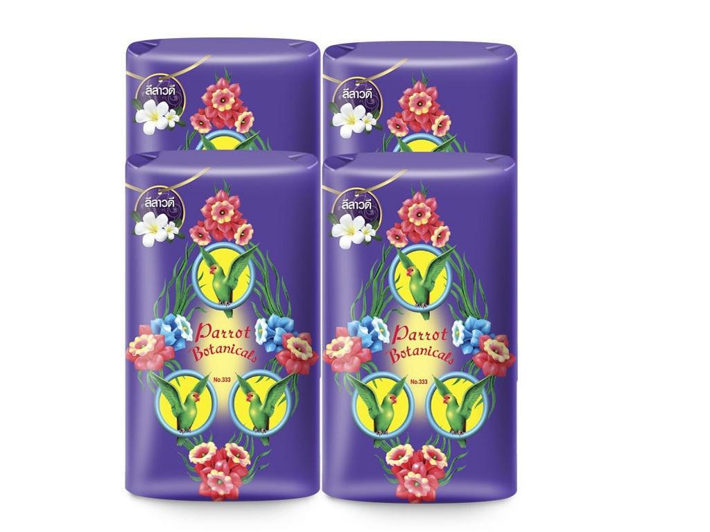 Средство для ухода за телом Parrot Botanicals Ботаническое мыло с ароматом цветка франжипани 4шт по 105g 2511