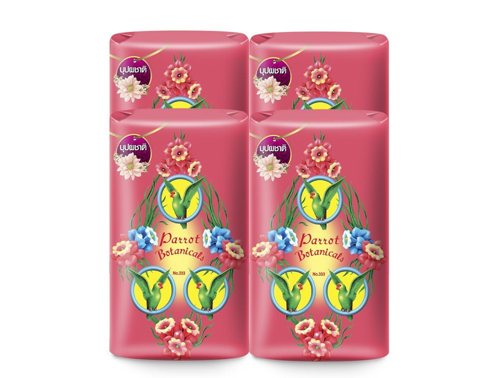 Средство для ухода за телом Parrot Botanicals Ботаническое мыло с цветочным ароматом 4шт по 105g 1385