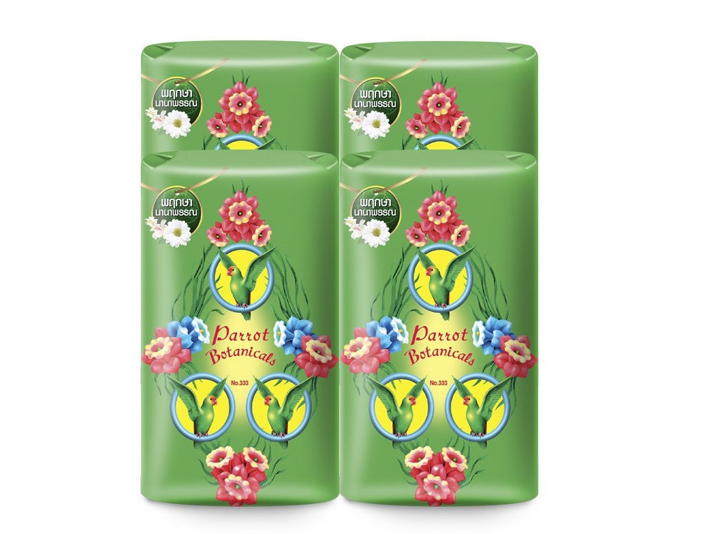 Средство для ухода за телом Parrot Botanicals Ботаническое мыло с ароматом трав 4шт по 70g 3892