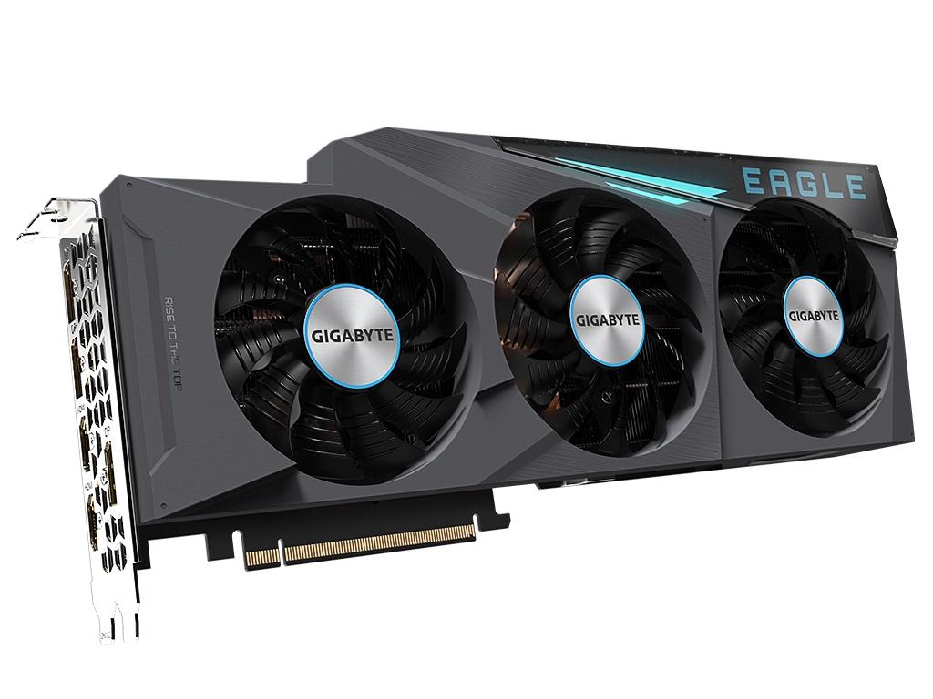 Видеокарта GigaByte GeForce RTX 3080 Eagle OC 10G 1710Mhz PCI-E 4.0 10240Mb 19000Mhz 320-bit 2xHDMI 3xDP HDCP GV-N3080EAGLE OC-10GD
