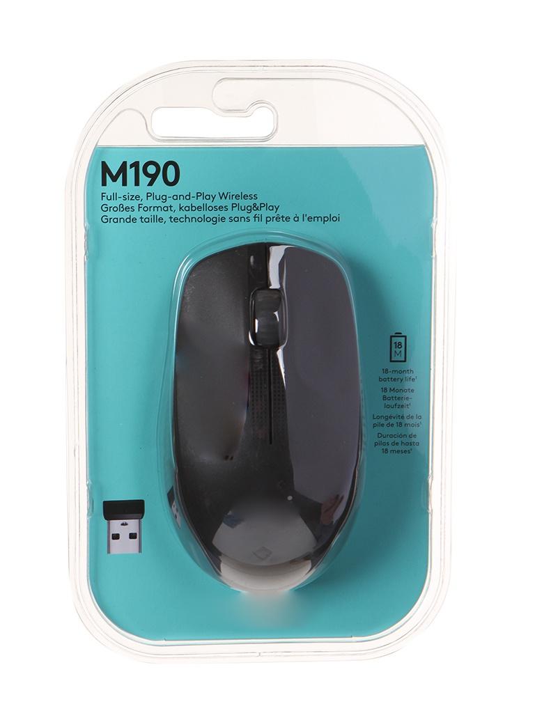 Мышь Logitech M190 Charcoal 910-005905