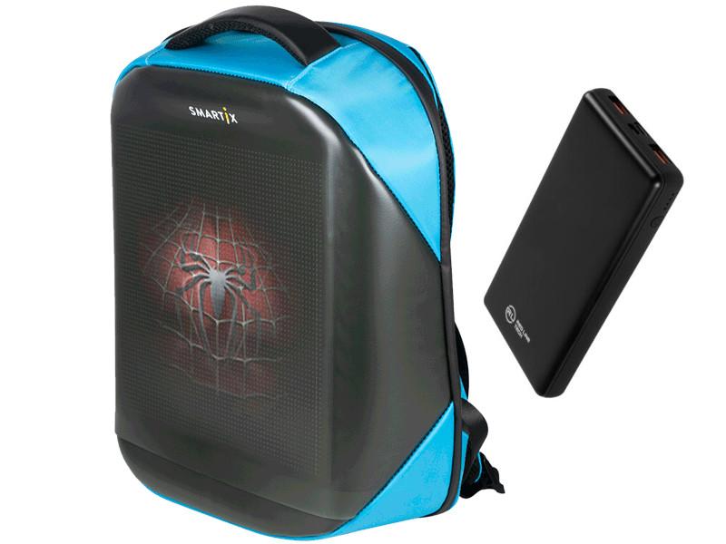 Рюкзак Smartix LED 4S Plus + PowerBank Blue SM0010041013