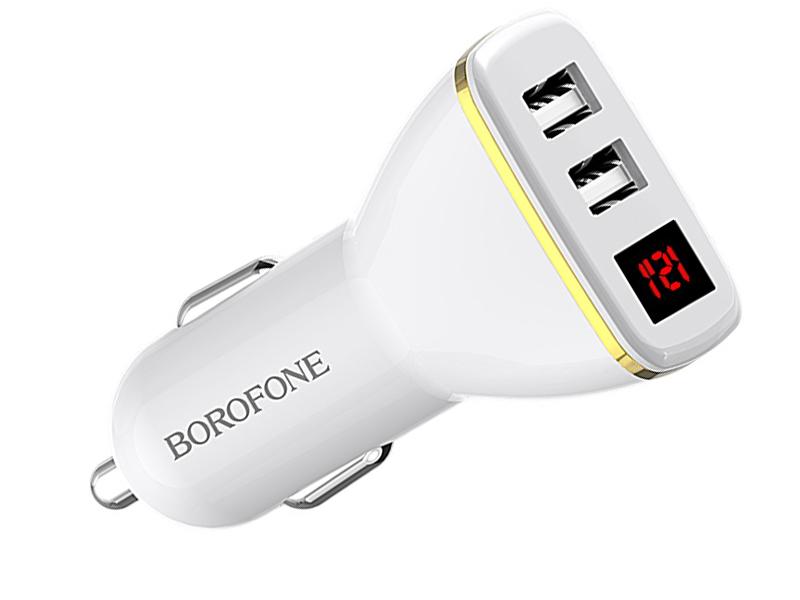 Зарядное устройство Borofone BZ11 Speed Map 2xUSB 2.1A White УТ000021789