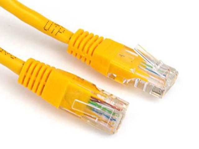Сетевой кабель Ripo UTP сat.5e RJ45 1.0m Yellow 003-300022