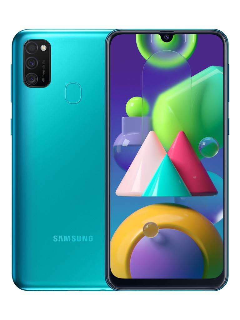 Сотовый телефон Samsung SM-M215F Galaxy M21 4Gb/64Gb Green & Wireless Headphones Выгодный набор + серт. 200Р!!!