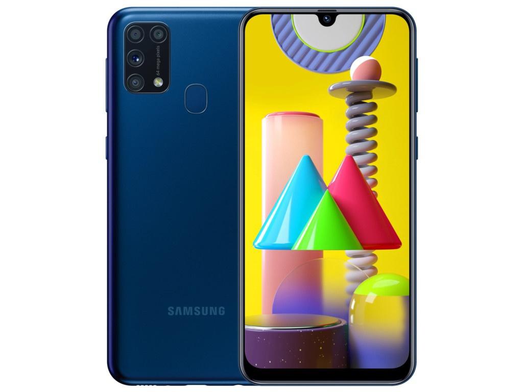 Сотовый телефон Samsung SM-M315F Galaxy M31 6Gb/128Gb Blue & Wireless Headphones Выгодный набор + серт. 200Р!!!