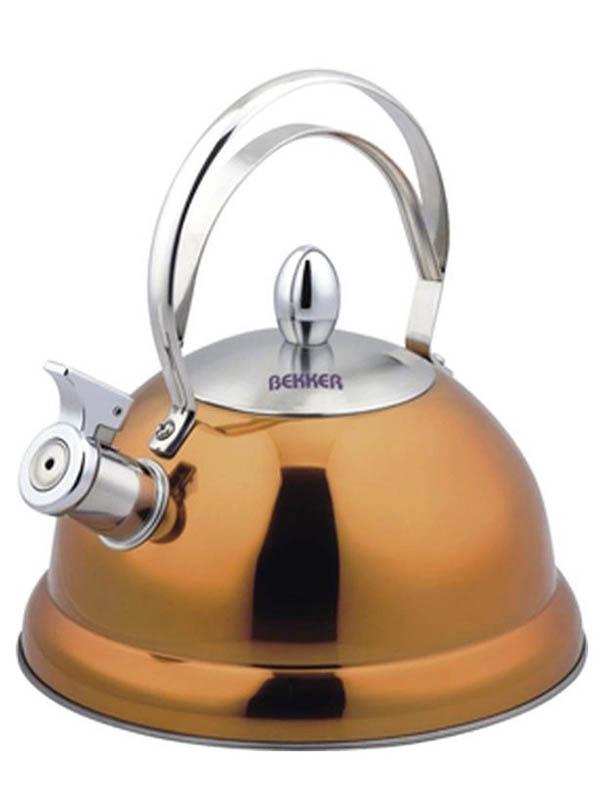 Чайник Bekker De Luxe 2.6L BK-S427 Yellow чайник bekker 2 0l bk s580