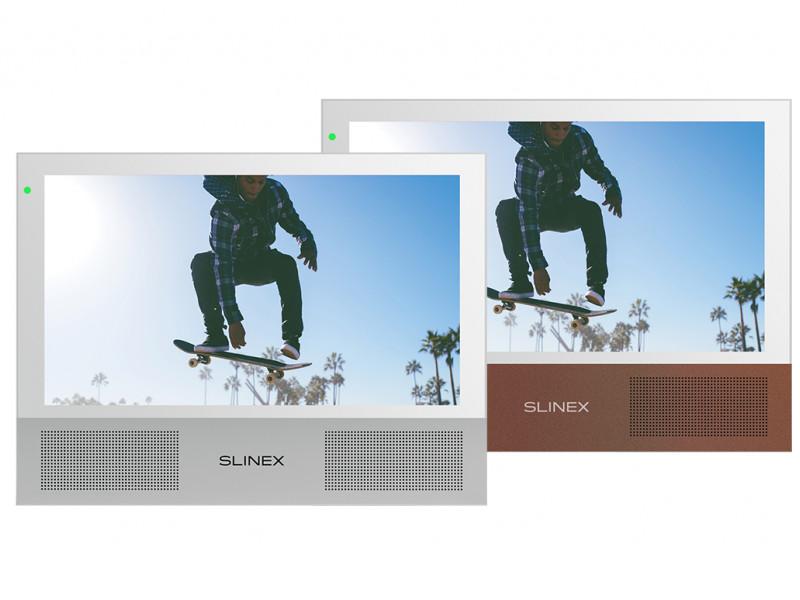 Видеодомофон Slinex Sonik 7 White-Silver/Gold Sand