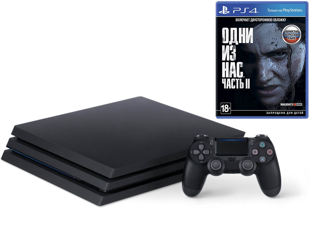 Игровая приставка Sony PlayStation 4 Pro 1 Тб Black CUH-7208B The Last Of Us: Part II