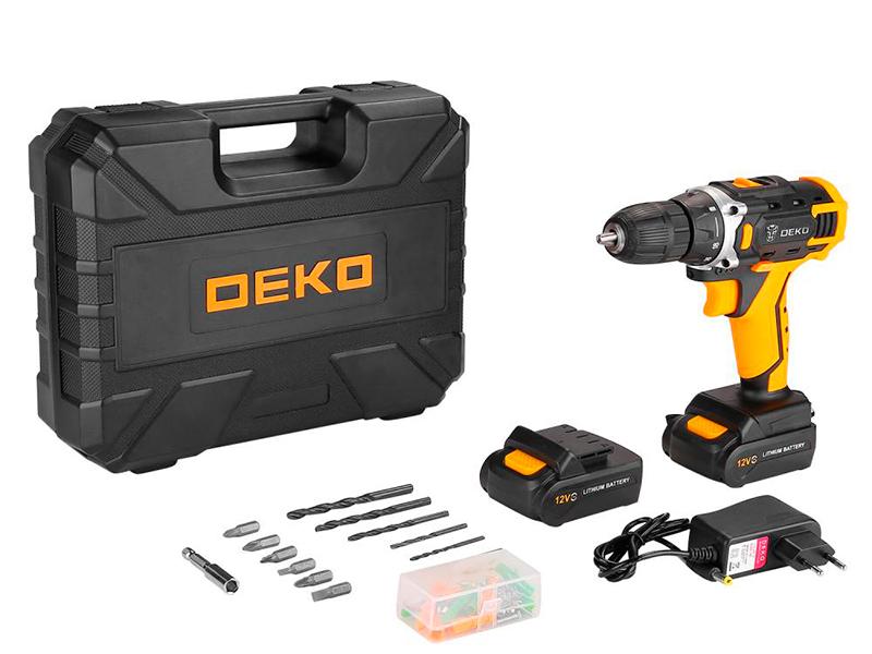 Электроинструмент Deko DKCD12FU-Li + 63 предмета 2x2.0Ah Advanced 063-4132