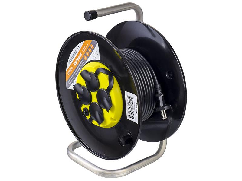 Удлинитель на катушке без заземления Perfeo RuPower 4 Sockets 30m PF_B4674
