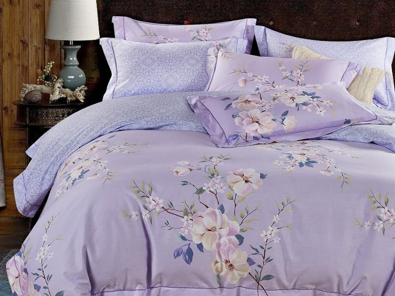 Постельное белье Relance Violette Комплект Евро Мако-сатин