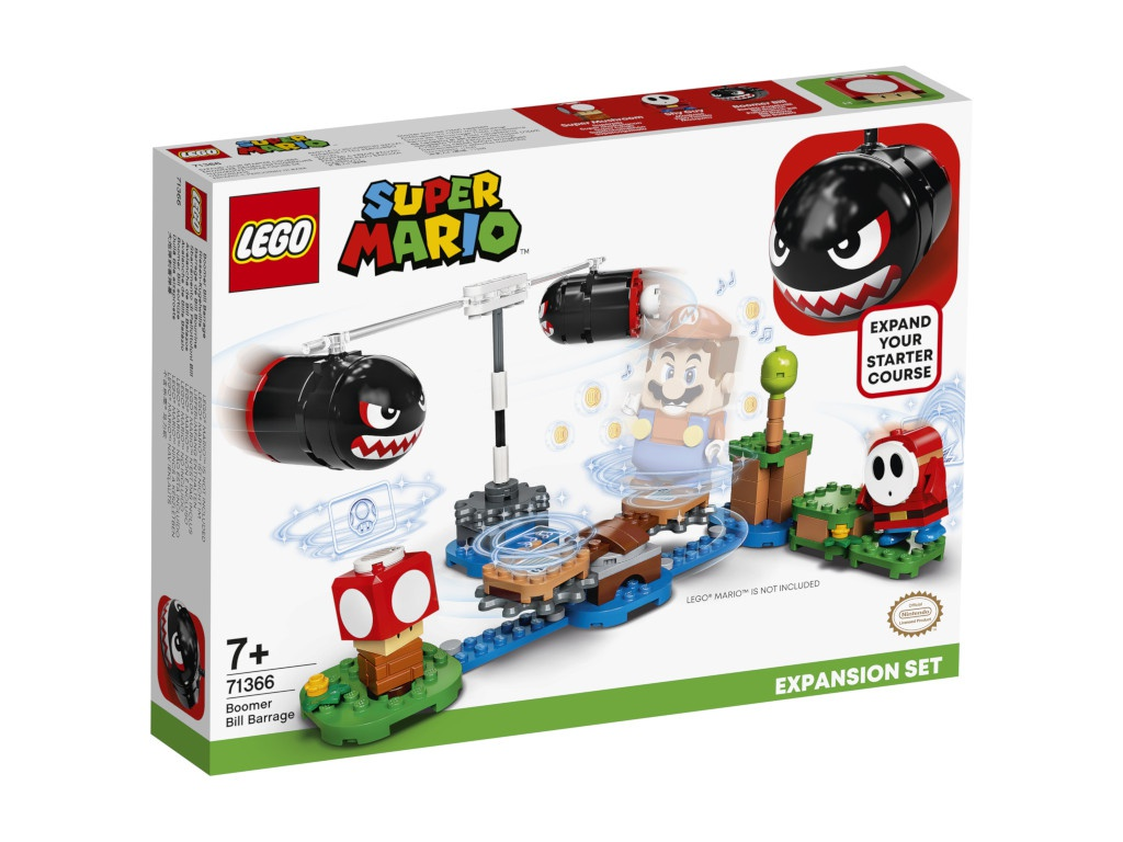 Конструктор Lego Super Mario Огневой налёт Билла-банзай. Дополнительный наб 132 дет. 71366